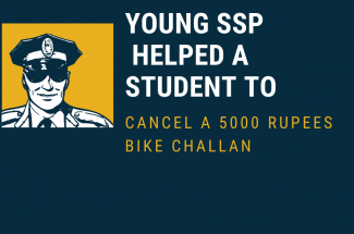 Young SSP Helped a Student to Cancel a 5000 Rupees Bike Challan