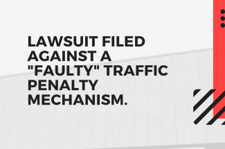 "In the Delhi High Court, a lawsuit filed against a ""faulty"" traffic penalty mechanism."