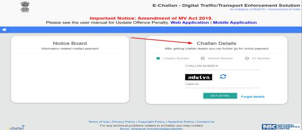 Go to https://echallan.parivahan.gov.in/index/accused-challan