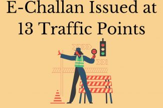 Thumbnail for the post titled: E-CHALLAN ISSUED IN GURUGRAM FOR JUMPING 13 TRAFFIC SIGNAL POINTS