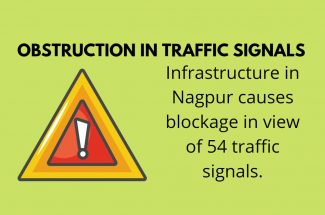 Thumbnail for the post titled: INFRASTRUCTURE IN NAGPUR CAUSES OBSTRUCTION IN VIEW IN 54 TRAFFIC SIGNALS