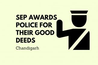 Thumbnail for the post titled: SSP AWARDS POLICE FOR THEIR GOOD DEEDS IN CHANDIGARH