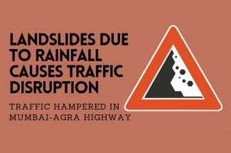 Thumbnail for the post titled: LANDSLIDE DUE TO RAINFALL CAUSES TRAFFIC DISRUPTION IN MUMBAI