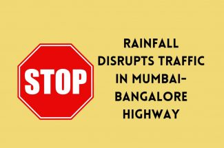 Thumbnail for the post titled: RAINFALL DISRUPTS TRAFFIC IN MUMBAI-BANGALORE HIGHWAY
