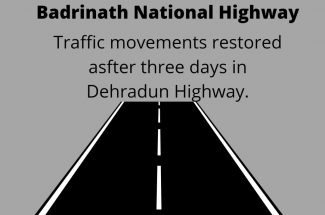 Thumbnail for the post titled: TRAFFIC MOVEMENT RESTORED AFTER THREE DAYS IN BADRINATH NATIONAL HIGHWAY
