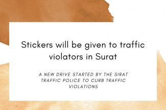 Thumbnail for the post titled: STICKERS WILL BE GIVEN TO TRAFFIC VIOLATORS IN SURAT