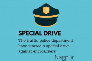 Thumbnail for the post titled: TRAFFIC POLICE TO LAUNCH DRIVE AGAINST ENCROACHERS IN NAGPUR