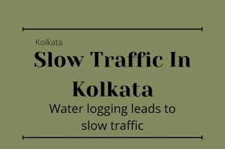Thumbnail for the post titled: WATER LOGGING IN THE STREETS OF KOLKATA SLOWS DOWN THE TRAFFIC