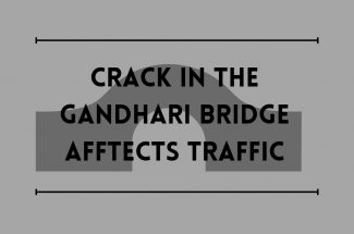 Thumbnail for the post titled: CRACK IN THE GANDHARI BRIDGE AFFECTS TRAFFIC