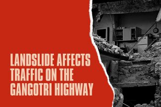 Thumbnail for the post titled: LANDSLIDE AFFECTS TRAFFIC ON THE GANGOTRI HIGHWAY