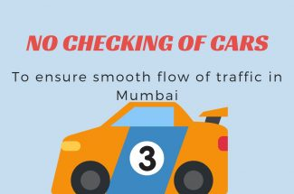 Thumbnail for the post titled: NO CHECKING OF CARS TO ENSURE SMOOTH FLOW OF TRAFFIC IN MUMBAI