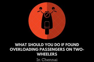 Thumbnail for the post titled: WHAT SHOULD YOU DO IF FOUND OVERLOADING PASSENGERS ON TWO-WHEELERS IN CHENNAI?