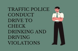 Thumbnail for the post titled: TRAFFIC POLICE CONDUCT DRIVE TO CHECK DRINKING AND DRIVING VIOLATIONS