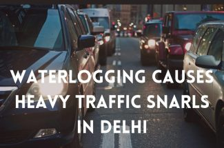 Thumbnail for the post titled: WATERLOGGING CAUSES HEAVY TRAFFIC SNARLS IN DELHI