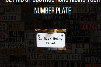Thumbnail for the post titled: Get Rid of Obstructions Hiding Your Number Plate